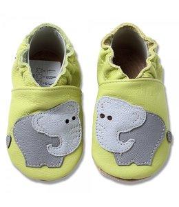 Babyslofjes groen met olifant (Kruip)