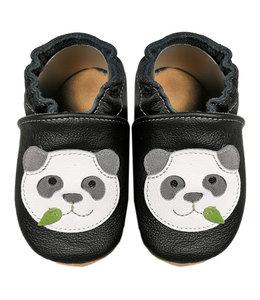 Babyslofjes zwart met panda (Loop)
