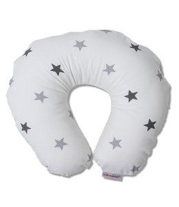 Nekkussen wit met 2 kleuren sterren