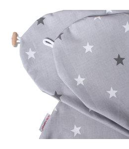 Hoes grijs met 2 kleuren sterren