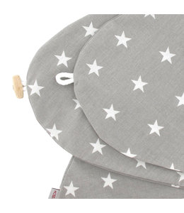Hoes grijs met witte sterren