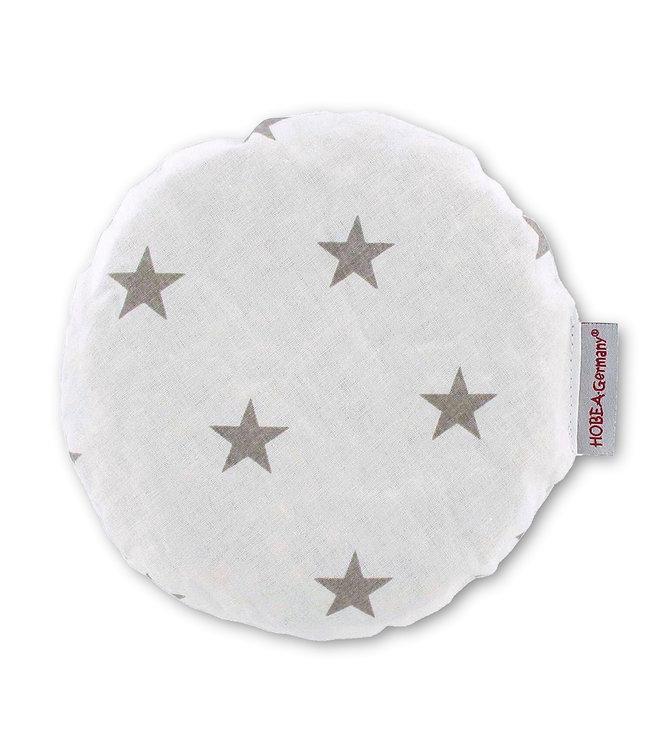 Kersenpit wit met grijze sterren