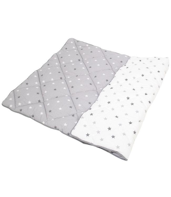 Speelkleed grijs/wit met grijs/witte sterren
