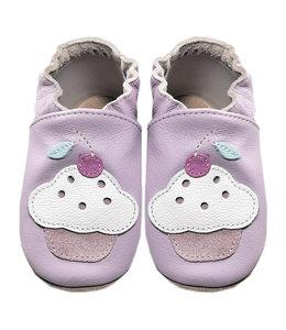 Babyslofjes roze met cupcake (Loop)
