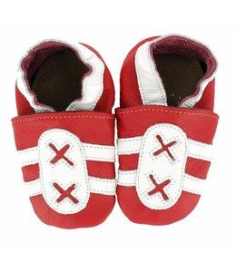 Hobea babyslofje  sport rood wit (kruip)