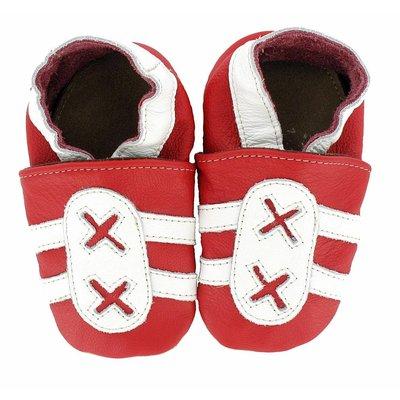 Hobea babyslofje  sport rood wit