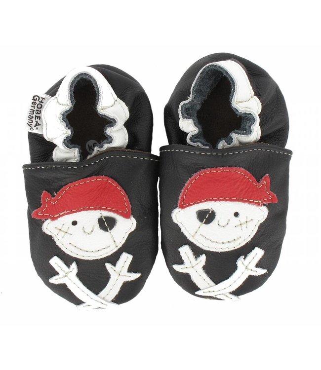 Hobea babyslofjes piraat zwart (Loop)
