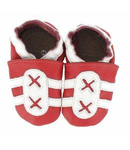 Hobea babyslofje sport rood wit (loop)