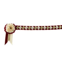 Showquest Browband velvet Newport with roset