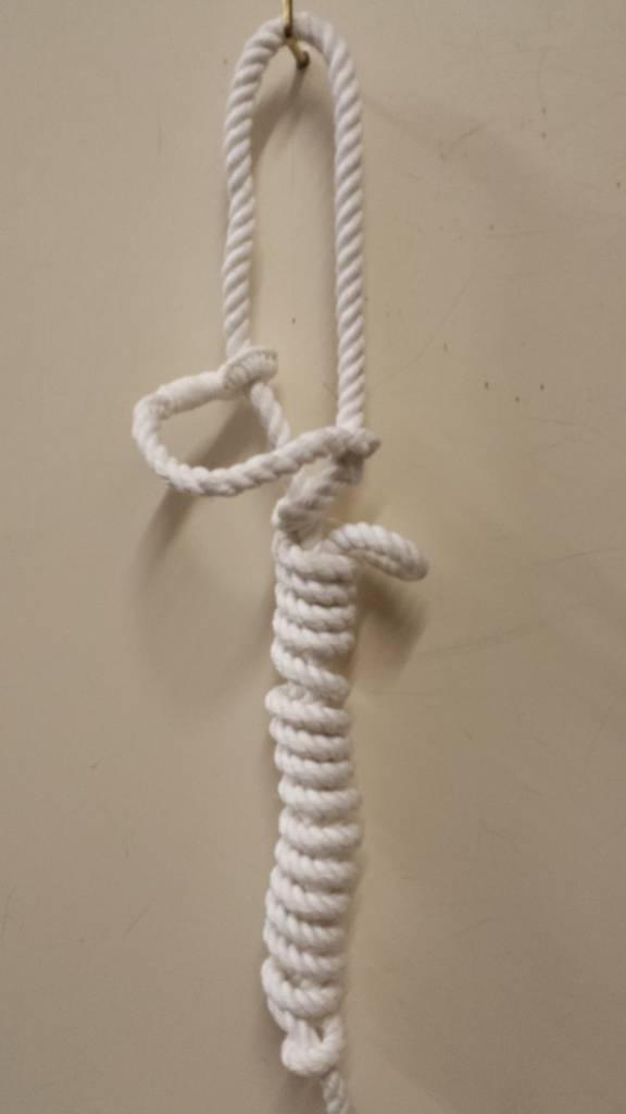 Rope halter white cotton