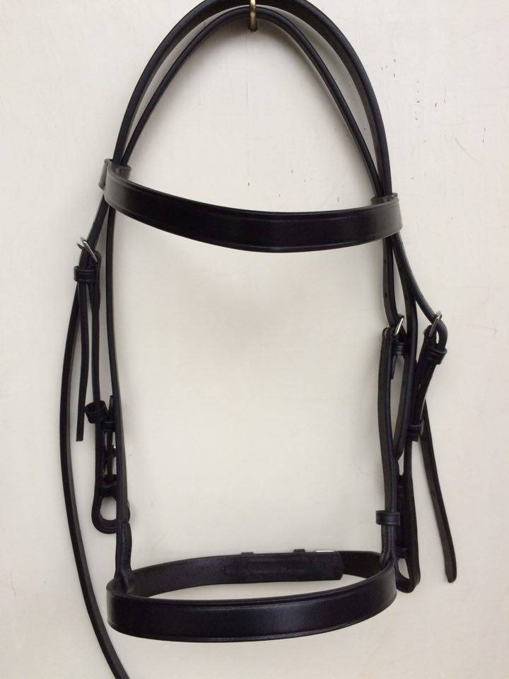 Ponytrends Show bridle with plain cavesson