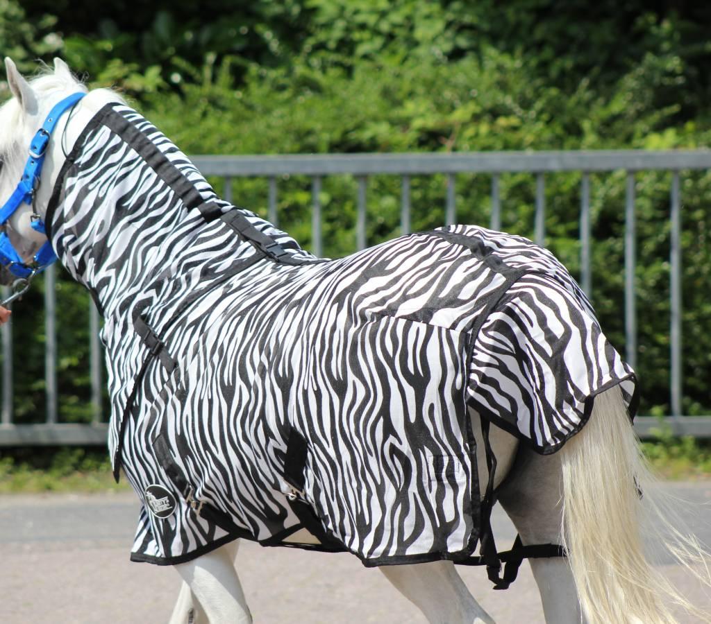 Harry's Horse Flysheet with neck, zebra