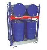 Fassregal für 4 stehende und 2 liegende Fässer à 200 l