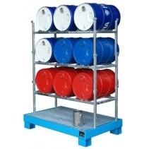 Fassregal für 3-9 Fässer mit je 60 Liter