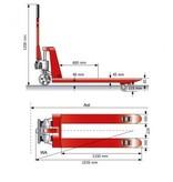 Handhubwagen mit Schnellhub und 2.500 kg Tragkraft