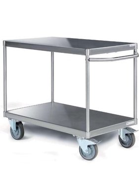 Tischwagen aus Edelstahl mit 2 Etagen