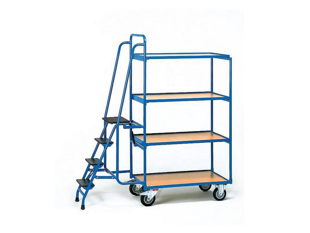 Kommissionierwagen 250 kg mit Leiter