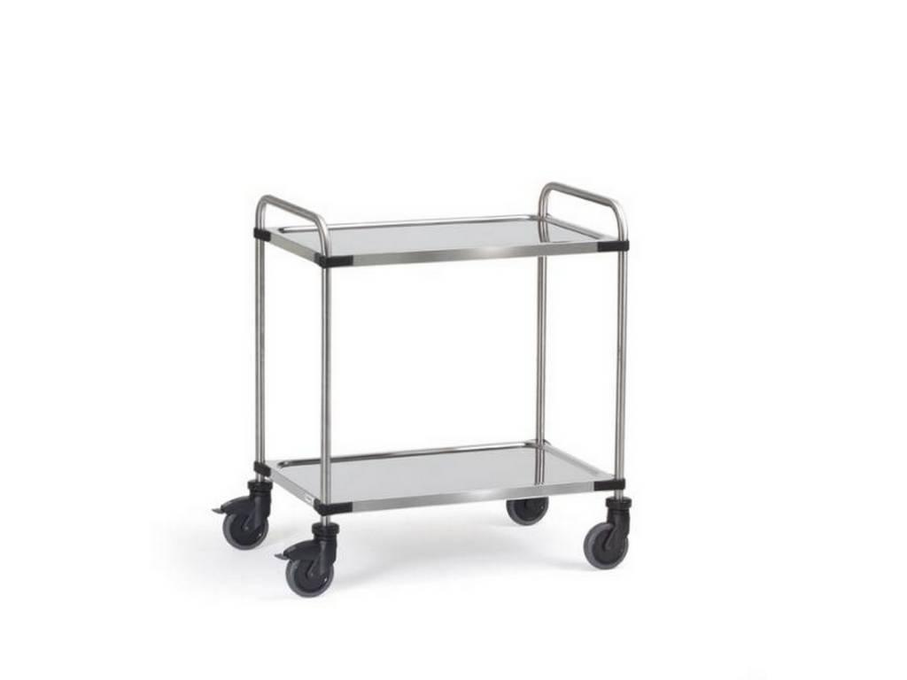 Edelstahlwagen mit 2 Böden 120 kg