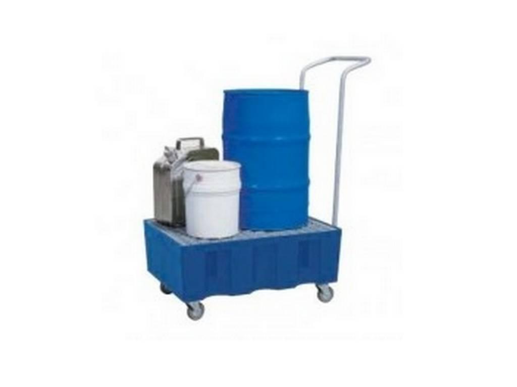 Fahrbare Auffangwanne für 1-2 Fässer à 60l bzw. Kleingebinde