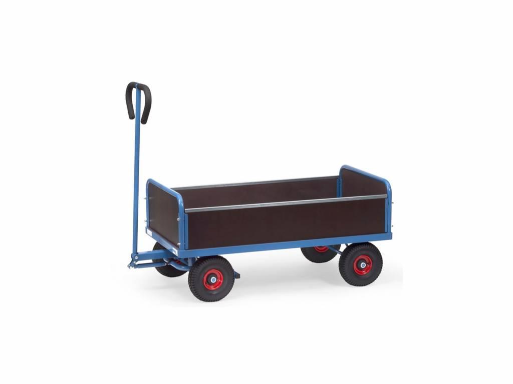 Handwagen mit 4 Stirnwänden und 500 kg Tragkraft