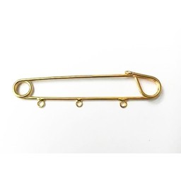 Cuenta DQ Scottish brooch pin jewelry pin with three rings gold color