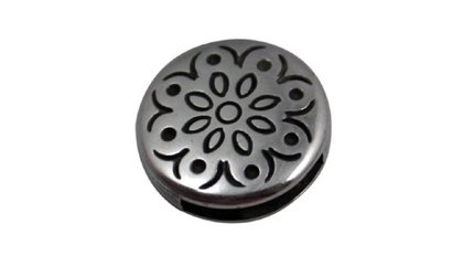 leather metal sliders 13mm