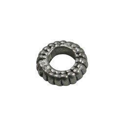 Cuenta DQ bali ring spacer ring 7mm platinum silver