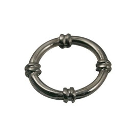 Cuenta DQ Boot Ring 23mm silberfarbe