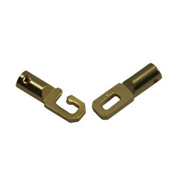 Cuenta DQ end caps with gold clasp 3mm hole