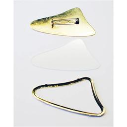 Cuenta DQ Seidenmalerei Brosche mit Goldfarbe ?berschreitenden 64x32mm