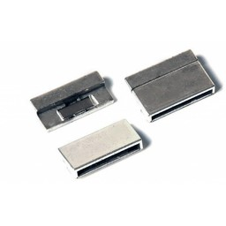 Cuenta DQ 25mm silver magnetic clasp