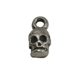Cuenta DQ Pendent Scull metal silver plating