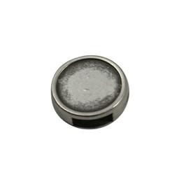 Cuenta DQ leer schuiver rond zilverkleur 6mm opening