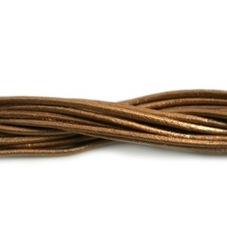 Cuenta DQ leather cord 2mm brons metallic 1 meter