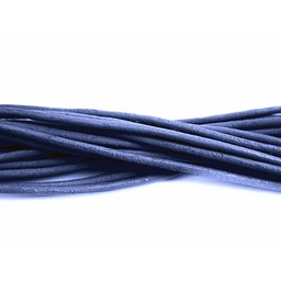 Cuenta DQ leather cord 2mm round blue 1 meter