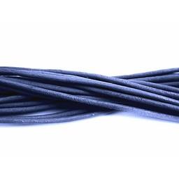 Cuenta DQ lederband 2mm rund blau 1 meter
