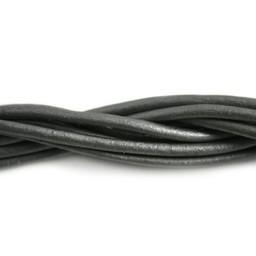 Cuenta DQ lederband  3mm grey metallic 1 meter