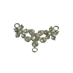 Cuenta DQ queen style three flower plated 40x20mm