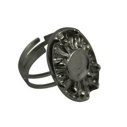 Cuenta DQ vingerring DIY exclusief platin zilverkleur
