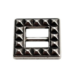 Cuenta DQ Buckle square  silver plating