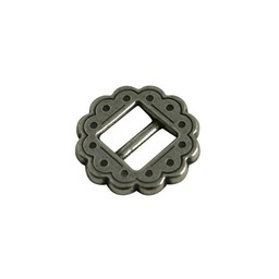 Cuenta DQ buckle  round western 10mm silver plating
