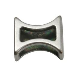 Cuenta DQ Metaal leerschuiver zandloper 10mm zilverkleur