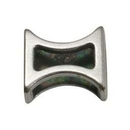 Cuenta DQ slider bead hourglass 10mm silver plating
