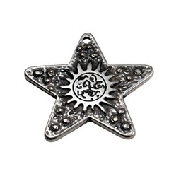 Cuenta DQ Moon&star silver plating
