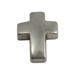 Cuenta DQ metal cross silver plating