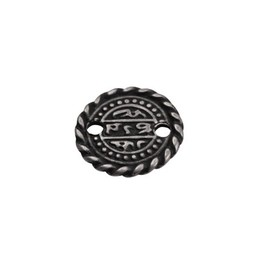 Cuenta DQ coin small 16mm silver plating