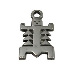 Cuenta DQ Azteken figuur silver plating