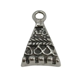 Cuenta DQ Pendent triangle 28x16mm silver plating
