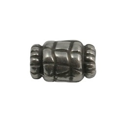 Cuenta DQ metal bead 15x10mm silver plating