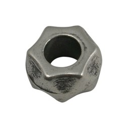 Cuenta DQ Bead metal schroefje silver plating